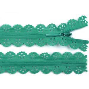 Spitzen Reißverschluss 18cm, mint