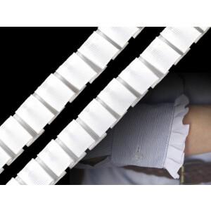 Ripsrüschenband 20mm, weiß