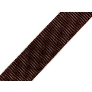 Gurtband 25mm, dunkelbraun