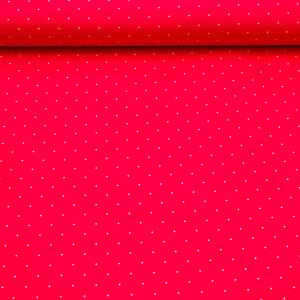 Baumwollstoff Aussee Tupf, rot
