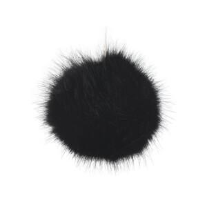 Kunstfellbommel 9cm, schwarz