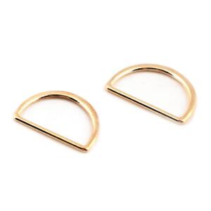 D-Ring flach 25mm, gold