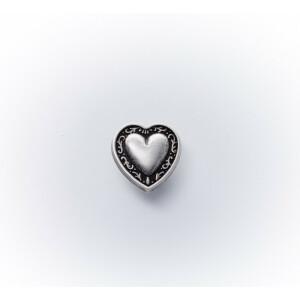 Dirndlknopf Herzchen 11mm, silber