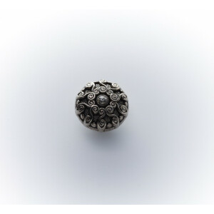 Straßknopf Trachten 13mm, altsilber
