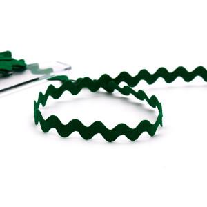 Zackenlitze Baumwolle 12mm, grün