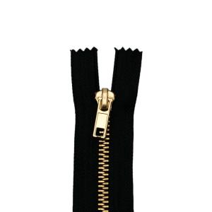 Reißverschluss Jeans, schwarz
