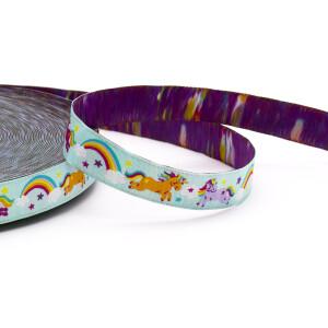 Webband Rainbow Unicorns 15mm, mint