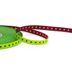 Webband Sterne 8mm, lemon/pink