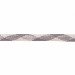 Flachkordel gemustert 20mm, grau/dunkelgrau