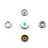 Jersey Druckknöpfe Stern, 10 Stück, 11 mm