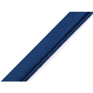 Paspelband Satin uni 10 mm, dunkelblau