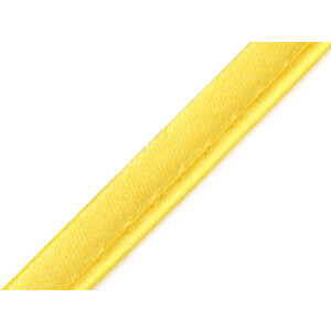 Paspelband Satin uni 10 mm, gelb
