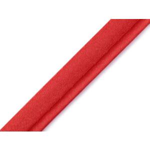 Paspelband Satin uni 10 mm, rot