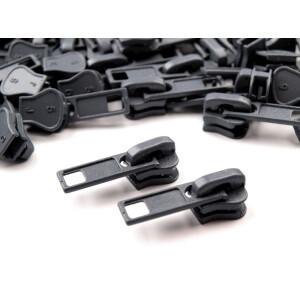 Reißverschluss Schieber 5mm, grau
