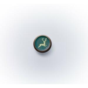 Dirndlknopf Hirsch 15mm, grün