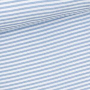Ringelbündchen 3mm, hellblau/weiß
