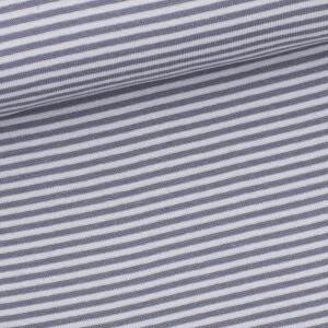Ringelbündchen 3mm, hellgrau/grau