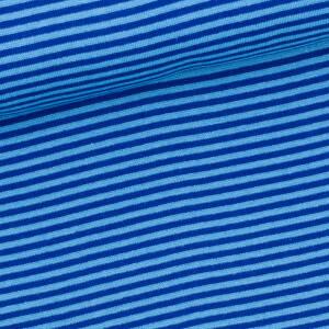 Ringelbündchen 3mm, aqua/royalblau