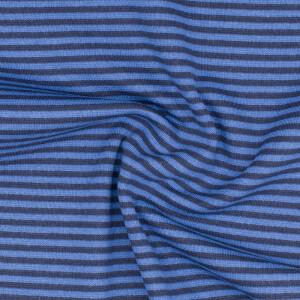 Ringelbündchen 3mm, navy/jeans