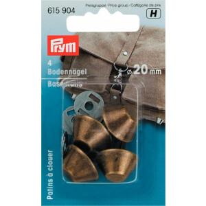 Bodennägel für Taschen 20mm, altmessing