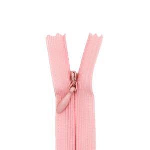 Nahtverdeckter Reißverschluss, rosa