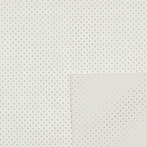 Kunstleder perforiert 50x70 cm, weiß