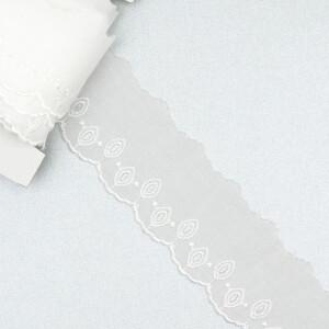 Baumwollstickerei 45mm, weiß