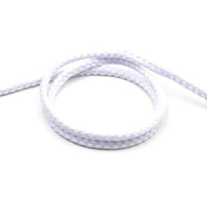 Flechtkordel 6 mm, weiß