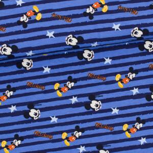 Jersey Mickey Mouse gestreift, blau/dunkelblau