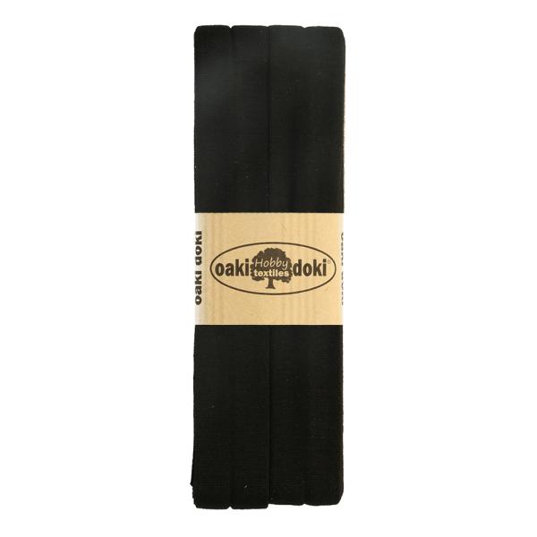 Jersey Schrägband 3 Meter, schwarz