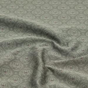 Jacquard Herzblüten, dunkelgrau grundig/beere