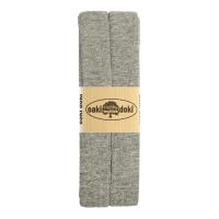 Jersey Schrägband 3 Meter, grau meliert