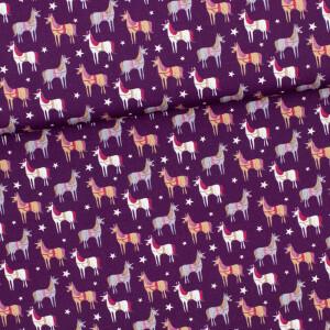 Baumwolle Magic Unicorn, lila