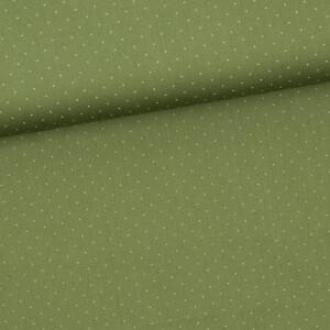 Baumwollsatin Tupf, moosgrün