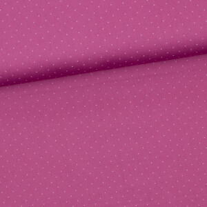 Baumwollsatin Tupf, dunkelaltrosa