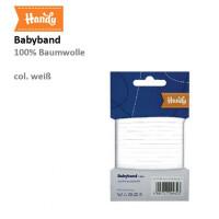 Babyband unelastisch 4mm, weiß