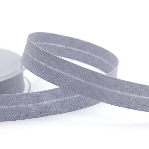 Schrägband Baumwolle 20mm, hellgrau
