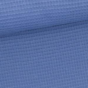 Waffelpique, jeansblau