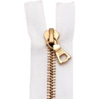 riri Reißverschluss Metal 6mm weiß, 45 cm