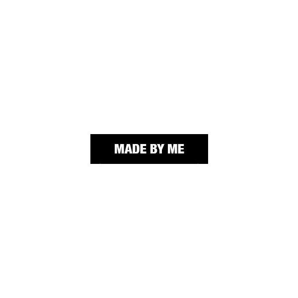 Label MADE BY ME, schwarz, 3 Stück