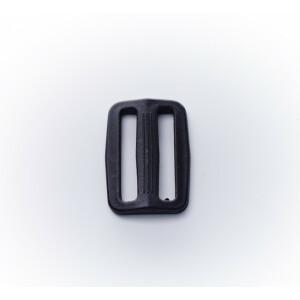Durchzugsschnalle Kunststoff in schwarz, 40 mm