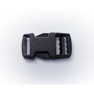 Steckschnalle schwarz, 40 mm