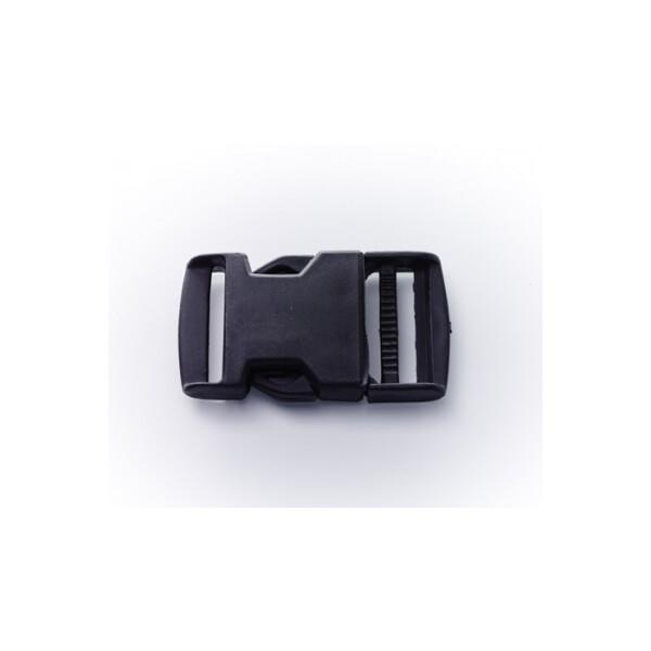 Steckschnalle schwarz, 30 mm