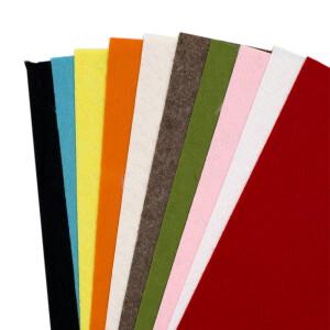 Filzplatten bunt 1mm, 10 Stück