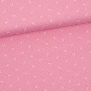 Baumwollstoff Prima Blümchen, rosa
