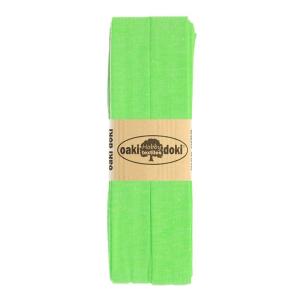 Jersey Schrägband 3 Meter, hellgrün meliert