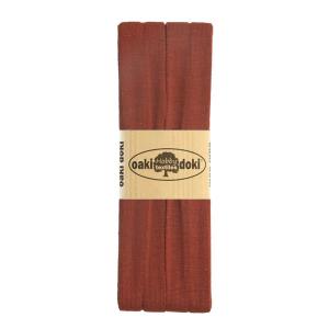 Jersey Schrägband 3 Meter, braunrot