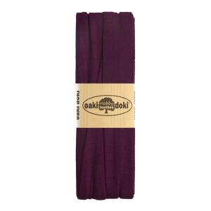 Jersey Schrägband 3 Meter, bordeauxviolett