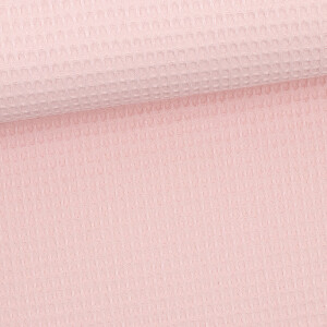 Waffelpique, pastellrosa