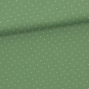 Baumwollstoff Aussee Tupf, waldgrün